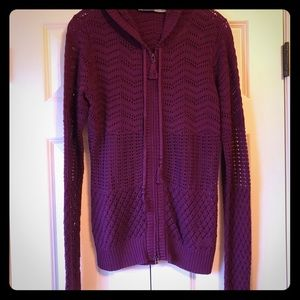 NWT Athleta Open Knit Cardigan with Hoodie